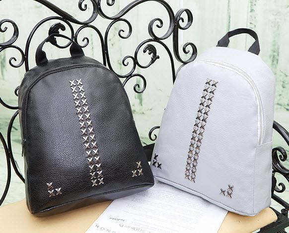 Повседневный городской рюкзак с заклепками, фото 1
