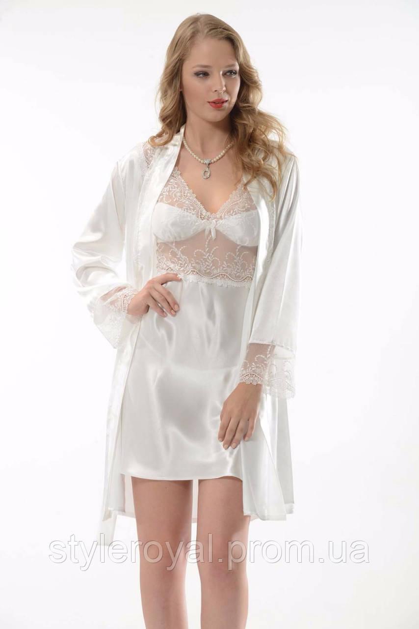 a3e71a4054cb58a ... Пеньюары и ночные рубашки; Белый пеньюар в комплекте. Белый пеньюар в  комплекте