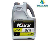 Моторное масло для дизельных двигателей KIXX HD CF-4/SG 15W-40 6л