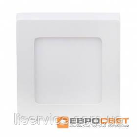 Світильник Евросвет LED-SS-120-6 6Вт 6400К квадрат накладной
