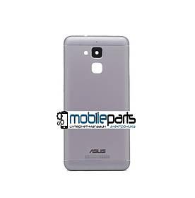 Оригинальная задняя панель корпуса (крышка) Asus Zenfone 3 Max (ZC520TL) (Серебристая)