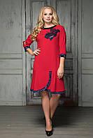 Платье вечернее с велюром Итальяна р 50-56, фото 1