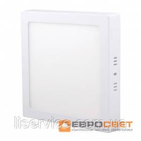 Світильник Евросвет LED-SS-170-12 12Вт 4200К квадрат накладной