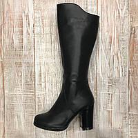 Зимові шкіряні чоботи 34рр, фото 1