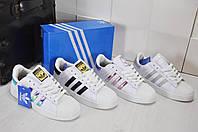 Женские кроссовки Adidas Superstar кожаные