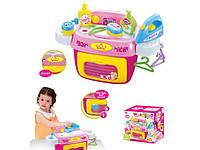 Прачечная детская: стиральная машина с гладильной доской, утюгом