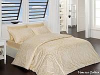 Комплект постельного белья First Choice Satin Cotton Евро Vanessa golden