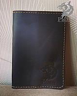 Шкіряна обкладинка для паспорта, кожаная обложка для паспорта