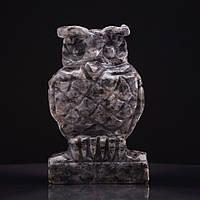 Статуэтка Сова натуральный камень Лабодор H-8см