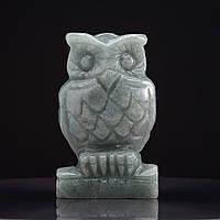 Статуэтка Сова натуральный камень Нефрит H-10см