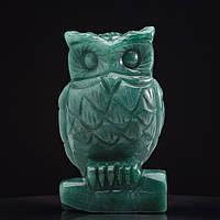 Статуэтка Сова натуральный камень Нефрит H-8см