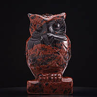 Статуэтка Сова натуральный камень Обсидиан H-10см