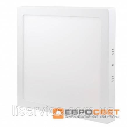 Світильник Евросвет LED-SS-300-24 24Вт 6400К квадрат накладной