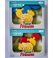"""Розвиваюча іграшка пл. 3D Тигрес """"Тваринки"""" 39356"""