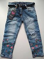 Модные джинсовые капри на девочку