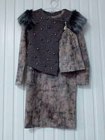 Платье с жилеткой для девочки подростка