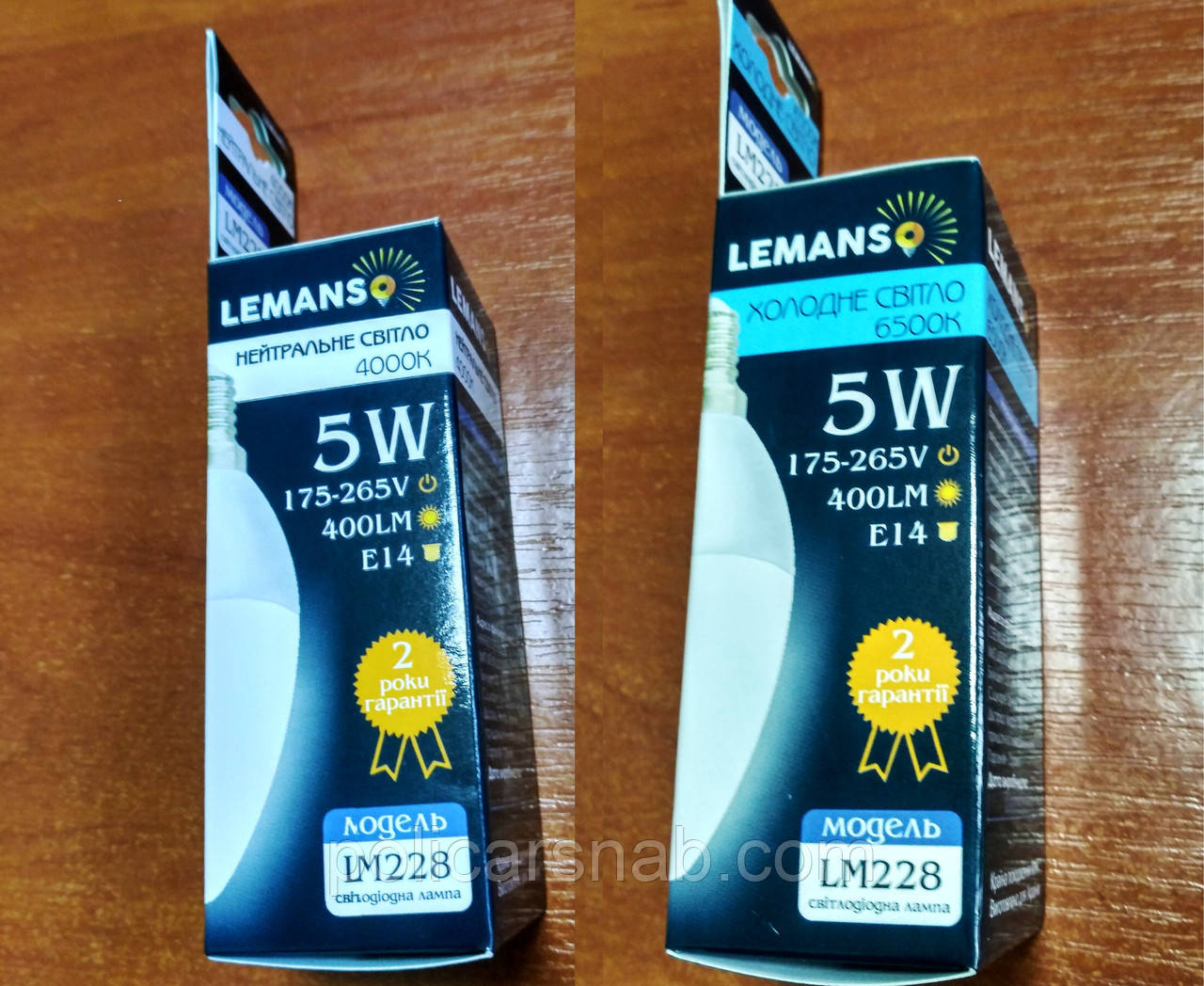 Лампа LED светодиодная  5,0W 400lm 4000К,6500К Е14 свеча LM228