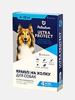 Капли на холку Ultra Protect от паразитов для собак весом от 4 до 10 кг