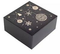 Коробка 165/165/80мм черный+золото