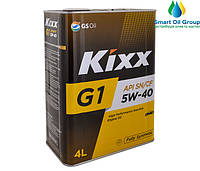 Моторное масло KIXX G1 5W-40 4л (API SN/CF)