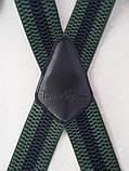 Широкі чоловічі зелені підтяжки Paolo Udini, фото 2