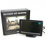"""Автомобильный монитор TFT 5"""" дюйма для парковки (на две камеры)  на присоске, фото 8"""