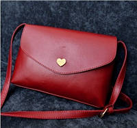 Женская сумочка клатч темно красная
