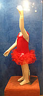 Боди-пачка красная с фатином 3-5 лет, фото 1