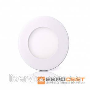 Світильник Евросвет LED-R-90-3 3Вт 4200К круг встраиваемый, фото 2