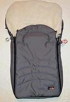 Зимний конверт для  коляски, санок на овечьей шерсти для новорожденных.