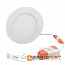 Світильник Евросвет LED-R-120-6 6Вт 4200К круг встраиваемый, фото 3