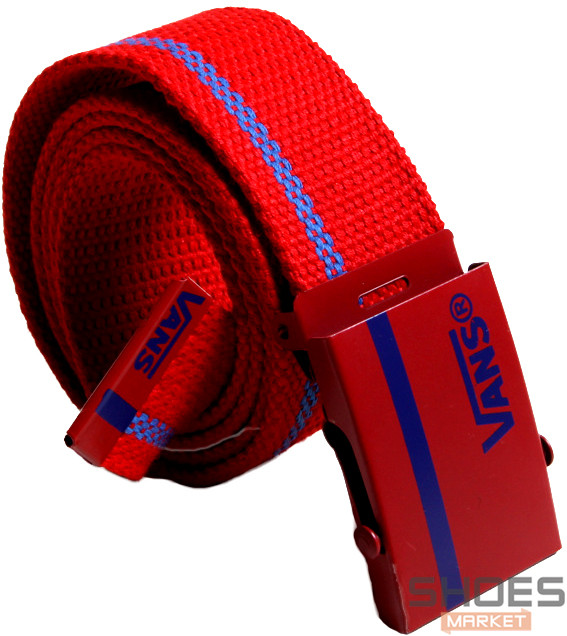 Ремень Vans Red/Blue