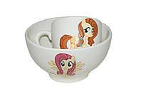 Набор детский чашка+пиала пони