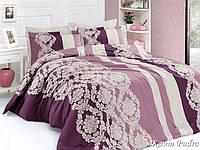 Комплект постельного белья First Choice Satin Cotton Евро Kavin-pudra