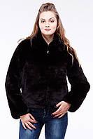 Модный женский полушубок Стася, коричневый