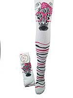 Детские колготы с зеброй