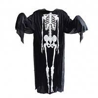 Мужской карнавальный костюм плащ Скелета