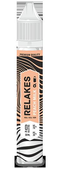 Жидкость для электронных сигарет Relakes PEACH MILK 30 Мл(персик+молоко+пломбир)