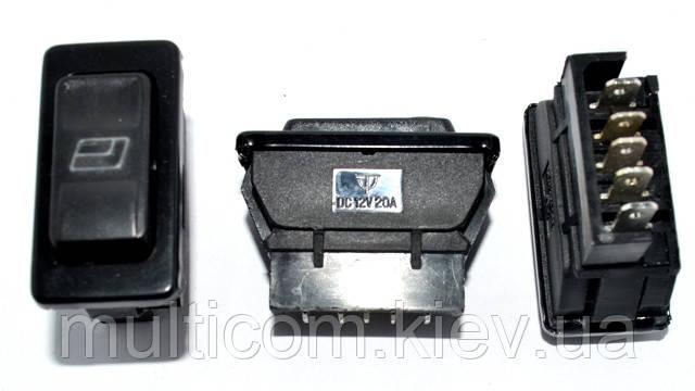11-03-002. Переключатель cтеклоподъёмника с подсветкой ASW-02D, 12В, 20А