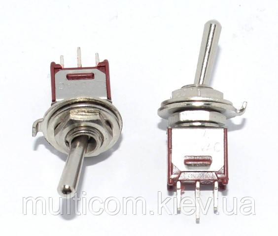 11-00-066. Тумблер SMTS-103 -2А1 (ON-OFF-ON), 3pin, 3А-125V/1,5A-250V