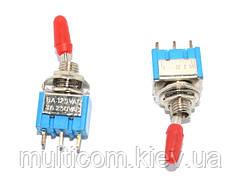 11-00-052. Тумблер MTS-103 (ON-OFF-ON), 3pin, 6А-125V/3A-250V