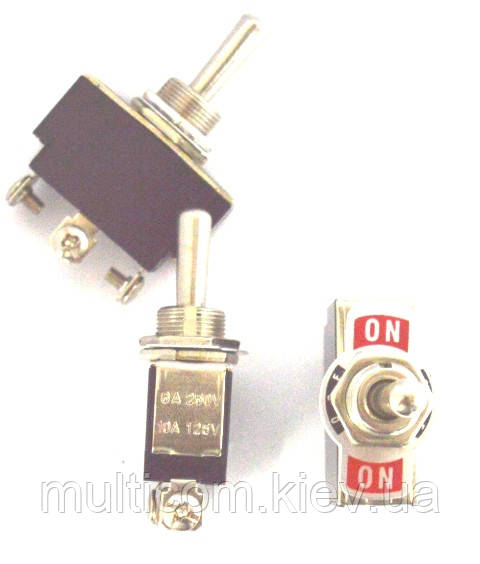 11-00-552. Тумблер KN3(B)-103 (ON-OFF-ON), 3pin, 10А-125V/6A-250V