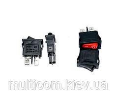 11-02-004. Переключатель клавишный узкий KCD-1 (ON-OFF), 2pin, 10А-125V/6A-250Vбез подсветки