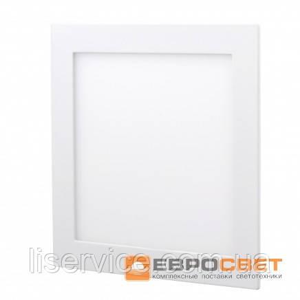 Світильник Евросвет LED-S-150-9 9Вт 4200К квадрат встраиваемый