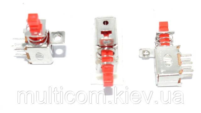 11-03-351. Переключатель кнопочный TV (SW-048A), 6pin, 0,5A, 50V, без фиксации