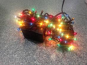 Гирлянда новорічна 180ламп чорна 5шнурів 8функцій 5,8м 220В 4кольори