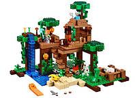 Детский Конструктор Bela 10471 Домик на дереве в джунглях (аналог Lego Майнкрафт, Minecraft 21125), 718 дет