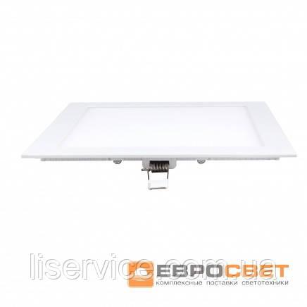 Світильник Евросвет LED-S-170-12 12Вт 6400К квадрат встраиваемый