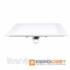 Світильник Евросвет LED-S-170-12 12Вт 6400К квадрат встраиваемый, фото 2