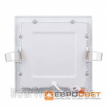 Світильник Евросвет LED-S-170-12 12Вт 6400К квадрат встраиваемый, фото 3